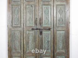 Pair of Vintage Rustic Indian Hardwood Garden Gate Doors (MILL 872/19)