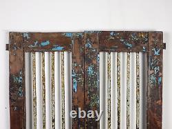 Pair of Vintage Rustic Indian Hardwood Garden Gate Doors (MILL 872/2)