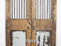 Pair of Vintage Rustic Indian Hardwood Garden Gate Doors (MILL 872/3)