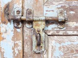 Pair of Vintage Rustic Indian Hardwood Garden Gate Doors (MILL 872/4)