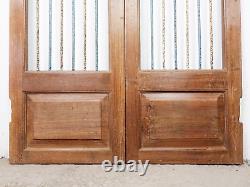 Pair of Vintage Rustic Indian Hardwood Garden Gate Doors (MILL 872/5)