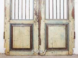 Pair of Vintage Rustic Indian Hardwood Garden Gate Doors (MILL 872/7)