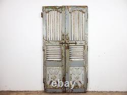 Pair of Vintage Rustic Indian Hardwood Garden Gate Doors (MILL 872/8)