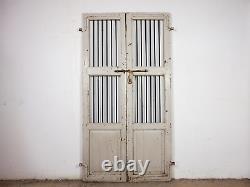 Pair of Vintage Rustic Indian Hardwood Garden Gate Doors (MILL-880/1) C8