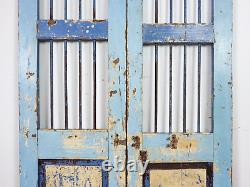 Pair of Vintage Rustic Indian Hardwood Garden Gate Doors (MILL-880/3) C8