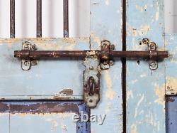 Pair of Vintage Rustic Indian Hardwood Garden Gate Doors (MILL-880/4) C8