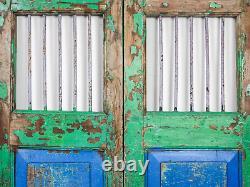 Pair of Vintage Rustic Indian Hardwood Garden Gate Doors (MILL-880/5) C8