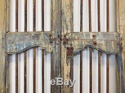 Pair of Vintage Rustic Indian Hardwood Garden Gate Doors (REF508)