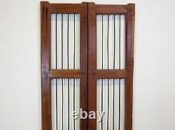 Pair of Vintage Rustic Indian Hardwood Garden Gate Doors (REF513)