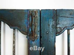 Pair of Vintage Rustic Indian Hardwood Jali Doors Garden Gate (REF506)