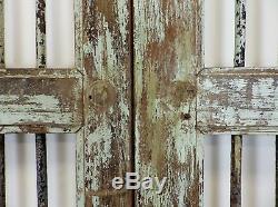 Pair of Vintage Rustic Indian Hardwood Jali Garden Gate Doors (REF507)