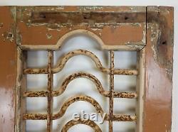 Pair of Vintage Rustic Indian Hardwood Jali Garden Gate Doors (REF517)