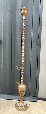 Rare Vintage Antique Hookah India Original Brass Pipes Decor Tobacco Smoking 3kg