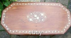 Superb Extra Large Vintage Folding Indian Inlaid Side Table