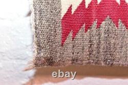 VINTAGE Navajo Rug Native American Indian Weaving Textile 35x16 ANTIQUE