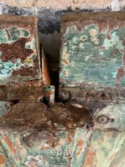 VINTAGE WOODEN SHUTTERS OR DOORS WINDOW Indian HARD WOOD 127x72 CM FREE post