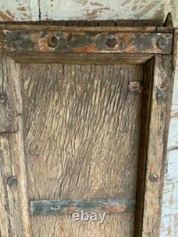 VINTAGE WOODEN SHUTTERS WINDOW OR DOORS ANTIQUE Indian HARD WOOD 95x65 CM