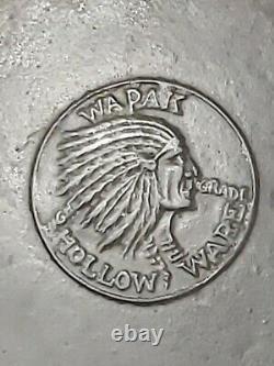 VTG ANTIQUE WAPAK INDIAN HEAD HOLLOW WARE CAST IRON SKILLET No 9 GRISWOLD