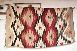 VTG Navajo Blanket Rug native american indian weaving Textile Antique 78x43