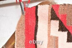 VTG Navajo Rug Native American Indian Weaving Textile 46x24 Antique Transitional