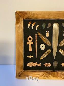 Vintage Alaska Native American Indian Artifact Collection Framed #2