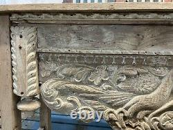 Vintage Antique Carved Indian Wooden Console Table
