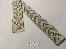 Vintage Antique Eastern Plains / Minniconjou Sioux Indian Loom Beaded Belt