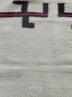 Vintage Antique Transitional Era Navajo Indian Saddle Blanket Whirling Logs
