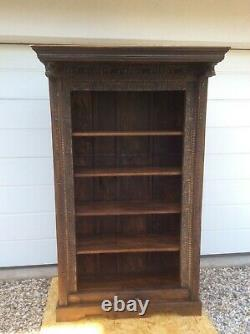 Vintage Artisan shelving unit created from an antique window frame, Indian