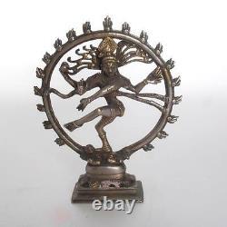 Vintage Cast Brass Hindu Nataraja Shiva Statue