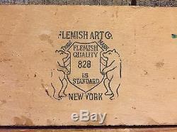 Vintage FLEMISH Art Co. New York Lucky Swastika Towel Tie Indian Art Hanger