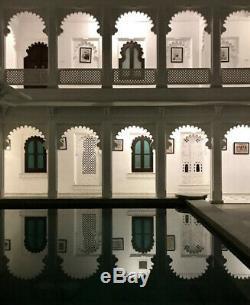 Vintage Indian Furniture. Large Mughal Arch Display / Shelving Unit. Turquoise