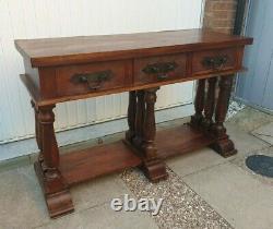 Vintage Indian Hardwood Console Hall Table William Sheppee Sheesham Sideboard