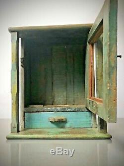 Vintage Indian Home Shrine. Art Deco. Bathroom / Display Cabinet Multi-coloured