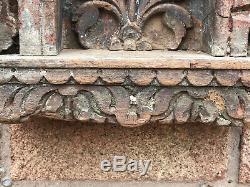 Vintage Indian Sacred Hindu Home Wooden Shrine Temple Altar Hanging Arched Puja