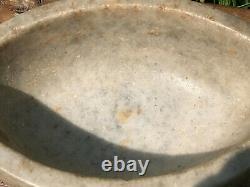 Vintage Large Stone Polished Marble Pestle & Mortar Kural Rajasthan Grinder