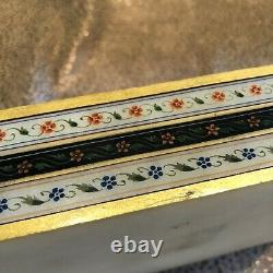 Vintage Mughal Hand Painted Marble Box