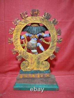 Vintage Natraj Shiva Sculpture Temple Hindu God Nataraj Statue Murti Antique Old