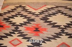 Vintage Navajo Wool Blanket Rug Native American Indian Textile Antique 73x53