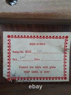Vintage OCTAGONAL FOLDING HOSHIARPUR INDIAN INLAID SIDE TABLE