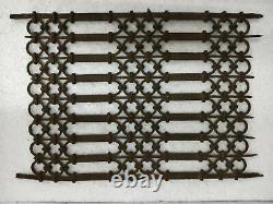 Vintage Old Rustic Iron Handmade Unique Jali, Antique Air Window / Multipurpose