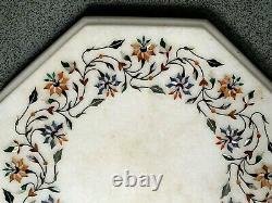 Vintage Pietra Dura Marble Precious Stone Carved Table Top