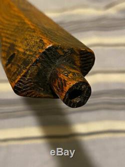 Vintage Pipe Axe Indian Tomahawk Spontoon Style Star Sunburst Cutaway Blade