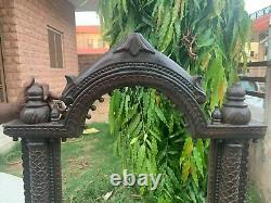 Vintage Rare Collectible Wooden Hand Carving 40 Jharokha Hanging Mirror Frame