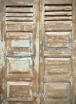Vintage Shuttered Doors. French Style. Puducherry. Tamil Nadu India. 2 Available