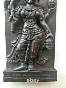 Vintage Temple Wall Panel Hindu Durga Kali Devi panel sculpture Statue Decor Old