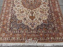Vintage Traditional Handmade Indian Oriental Wool Beige Rug 230x165cm