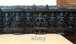 Vintage Wall Panel Hindu God Vishnu Avatar Dashavatar Statue Sculpture Art Decor