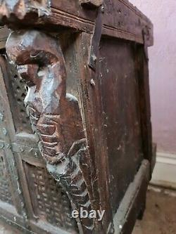 Vintage indian dowry chest, trunk, cabinet