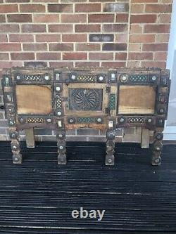 Vintage indian wood side table